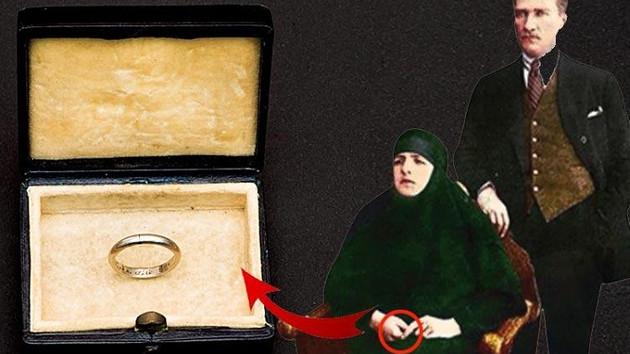 İşte Atatürk'ün Latife Hanım'a taktığı nikah yüzüğü