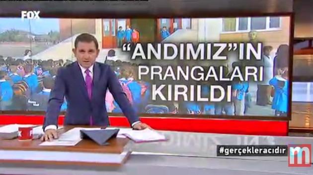 Fatih Portakal canlı yayında Andımız'ı okudu, AKP'li Bakanlara Erdoğan'ı bekleyin dedi