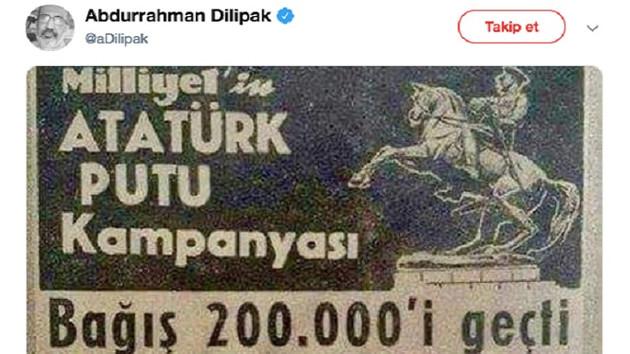 Sosyal medyayı karıştıran Atatürk putu afişinin aslı ne?