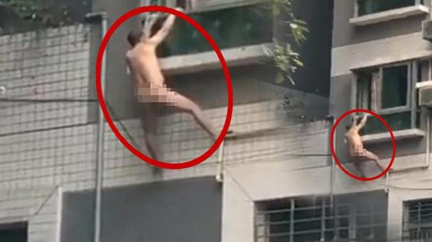 Sevgilisinin kocası eve gelince giysilerini bırakıp pencereden atladı