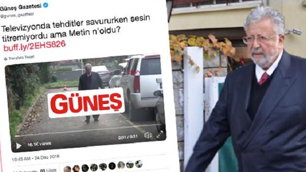 Güneş: Televizyonda tehditler savururken sesin titremiyordu ama Metin n'oldu?