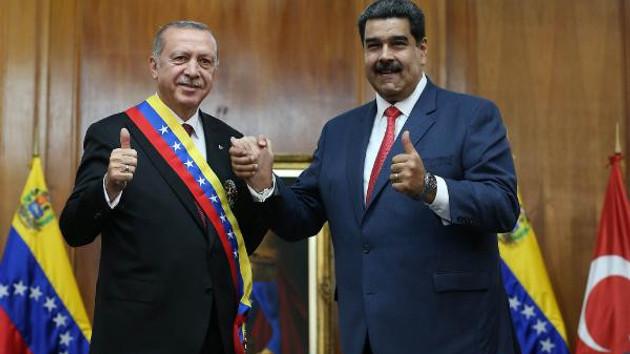 Erdoğan ve Maduro buluştu: Bize maalesef diktatör veya sultan derler