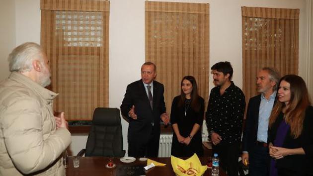 Erdoğan Hasan Kaçan'ın evine gitti, dikkat çeken kare