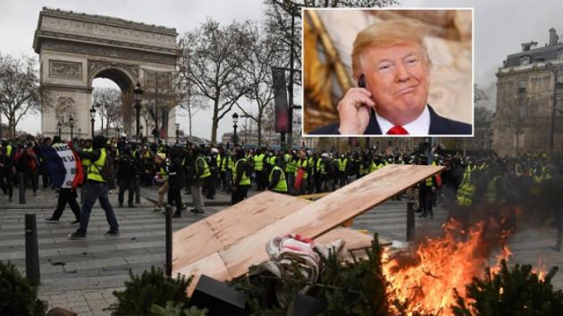 Fransa'dan ABD Başkanı Trump'a sert cevap: Burnunu sokmamalı