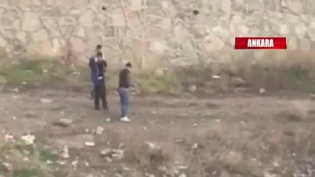 Ankara'da skandal görüntü! Eli silahlı çocuklar defalarca ateş etti
