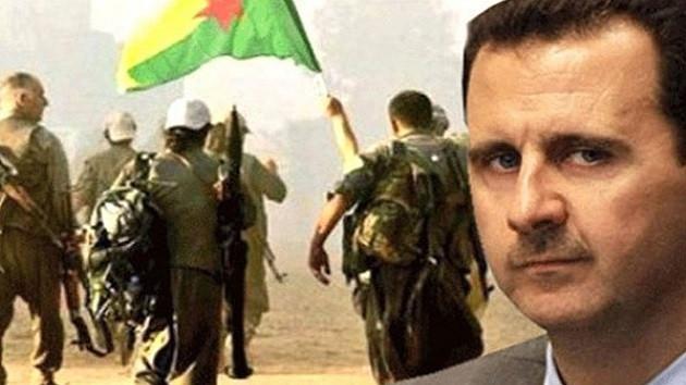 Esad ordusu terör örgütü PKK/YPG'nin daveti üzerine Afrin'e giriyor