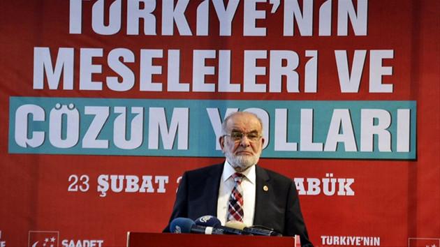 Saadet Partisi Genel Başkanı Karamollaoğlu'dan Cumhur ittifakı açıklaması