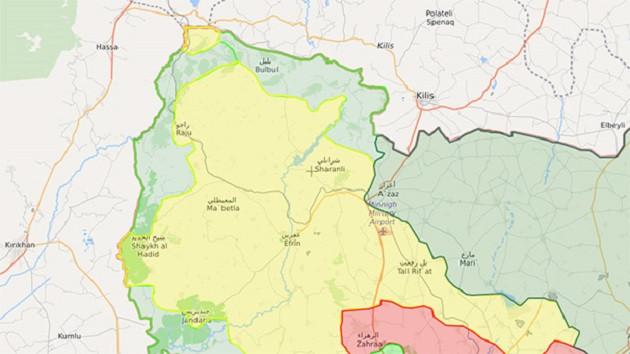 TSK: Afrin'de Kuzey ve Batı hatları birleşti!