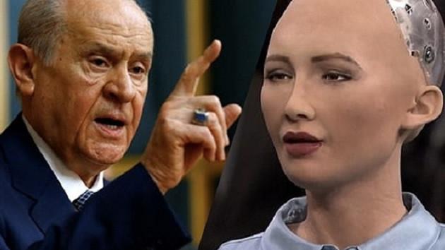 Robot Sophia, Bahçeli'yle görüşmek istiyor