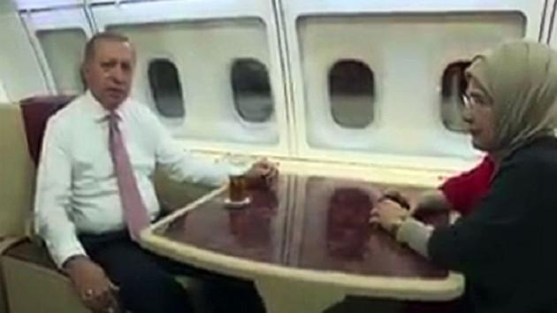 Cumhurbaşkanı Erdoğan sahurunu uçakta yaptı