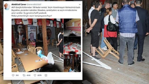 Abdüllatif Şener'in Konya'daki seçim bürosuna saldırı!