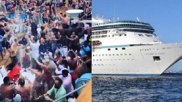 Akdeniz'de gemi tatili, seks partisine döndü