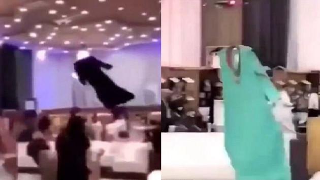 Yok artık dedirten görüntüler! Suudi Arabistan'daki defile hayrete düşürdü