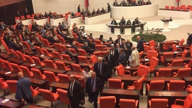 CHP'liler Süleyman Soylu'yu protesto etti