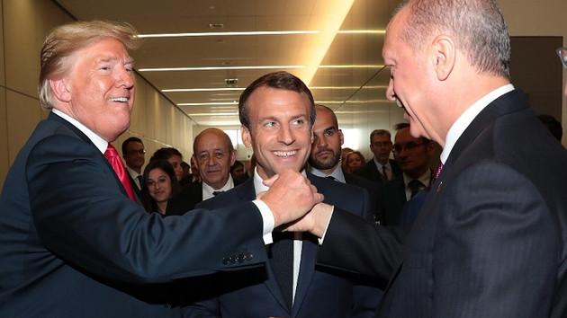 Erdoğan'dan Trump ve Macron ile samimi pozlar
