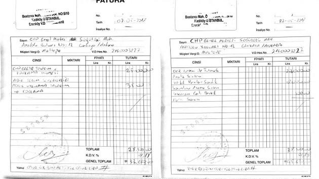 CHP'de tartışma yaratan faturalar ortaya çıktı