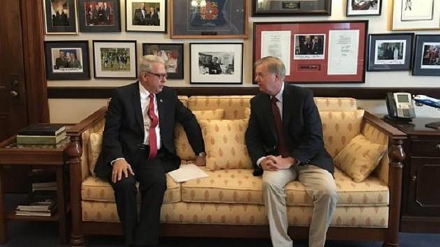 ABD'li Senatör Lindsey Graham, Washington Büyükelçisi Serdar Kılıç ile görüştü