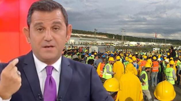 Fatih Portakal'dan 3. havalimanı işçilerine destek…