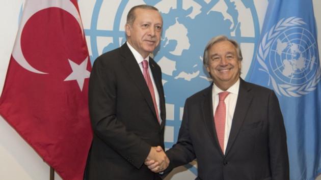 Erdoğan BM Genel Sekreteri ile görüştü