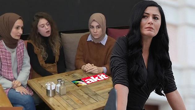 Akit gazetesi Deniz Çakır'ın tartıştığı başörtülü kızlara çattı: İçkili yerde işiniz ne?