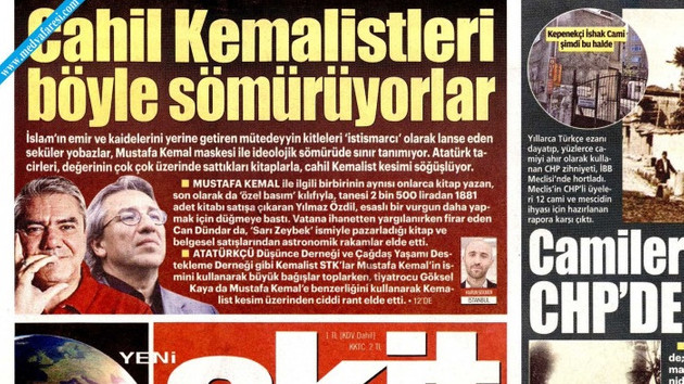 Yılmaz Özdil'in 2500 liralık kitabı Akit gazetesini bile Atatürkçü yaptı