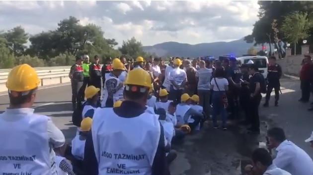 Ankara'ya yürüyen Somalı madencilere jandarma müdahalesi
