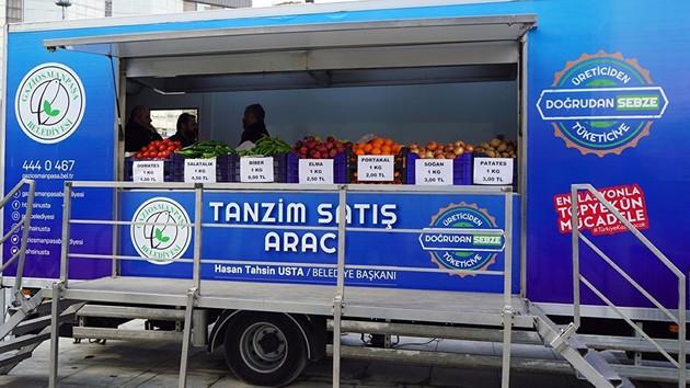 İstanbul'un ilk tanzim satış aracı Gaziosmanpaşa'da kuruldu
