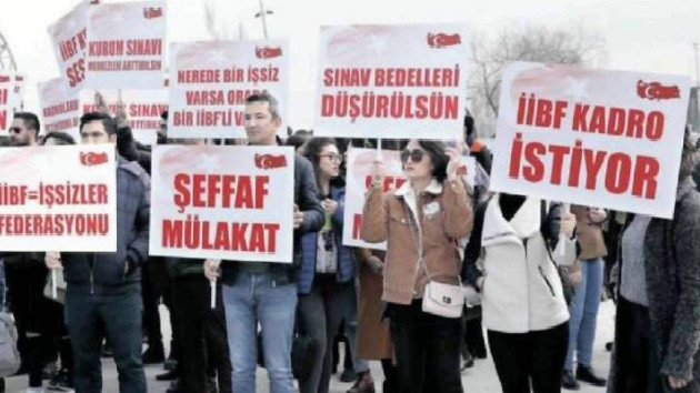İşsiz İİBF mezunları Ankara'da eylem yaptı: Bizi en iyi Erdoğan anlar