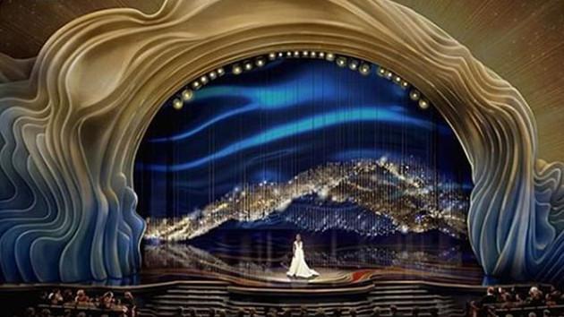 Oscar ödüllerinin verildiği sahne Trump'ın saçlarına benzetildi