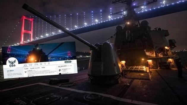 ABD donanmasından kafa karıştan Türkiye fotoğrafı