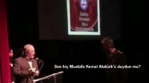 18 Mart töreninde Atatürk için Fatiha okunmadı, Albay salonu terk etti