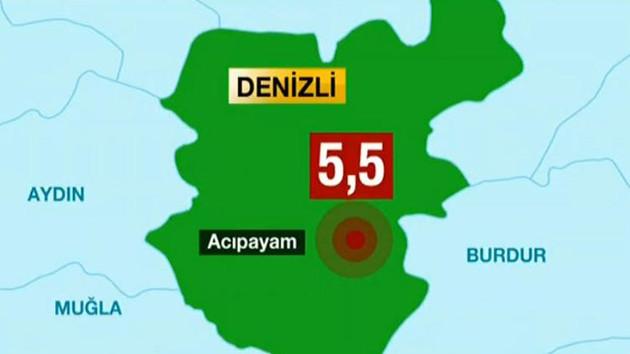 Denizli, Antalya ve İzmir'de korkutan deprem