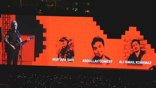 Gezi iddianamesine Roger Waters'ın İstanbul konseri de girdi