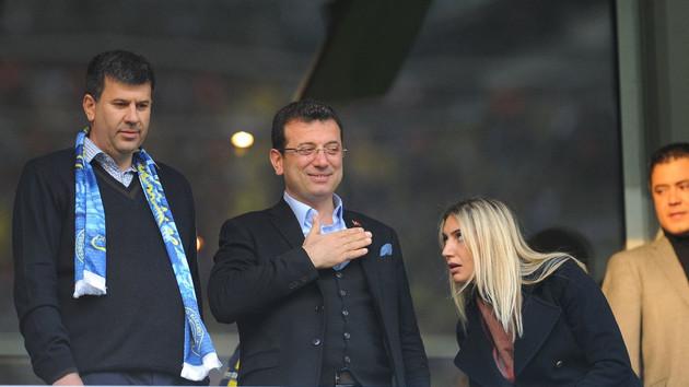Dev derbi öncesince Fenerbahçe ve Galatasaray taraftarından Ekrem İmamoğlu sloganları