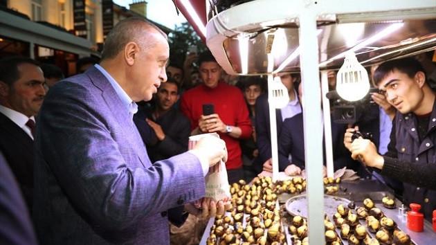 Erdoğan ile kestaneci arasında geçen diyalog vatandaşları gülümsetti