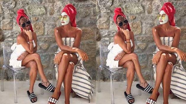 Eda Taşpınar'dan maskeli paylaşım