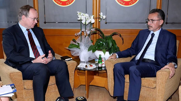 AB Türkiye Delegasyonu Başkanı Berger'den PMD'ye ziyaret