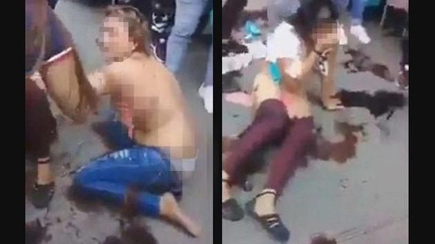 Çırılçıplak soyup sokak ortasında dövdüler