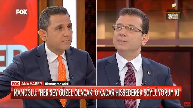 Ekrem İmamoğlu ve Fatih Portakal birlikte ilk kez canlı yayında FOX Ana Haber'de buluştu