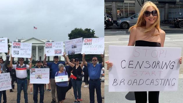 Beyaz Saray önünde Türkler CNN Türk'ü protesto etti