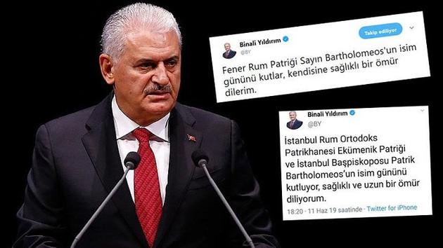 Binali Yıldırım'ın sildiği ekümeniklik tweeti sosyal medyada tartışmalara neden oldu