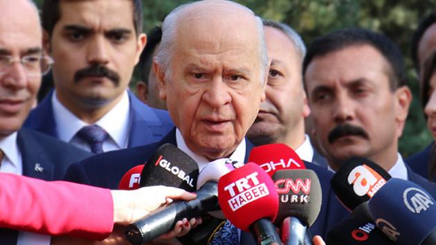 Bahçeli'den flaş açıklama: Seçimin arkasında FETÖ ve PKK vardır