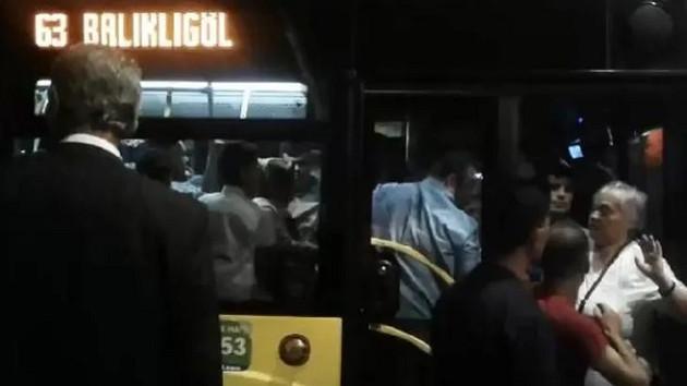 Otobüste taciz iddiası! Çığlık attı ortalık karıştı...
