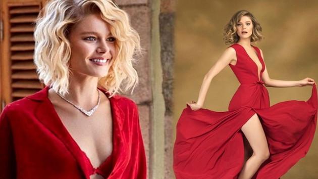 Burcu Biricik'in kırmızı elbiseli dans videosuna beğeni yağdı