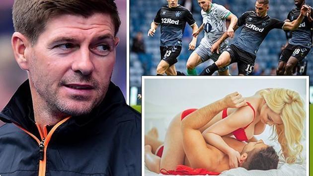 Rangers maçının canlı yayınına porno film karıştı