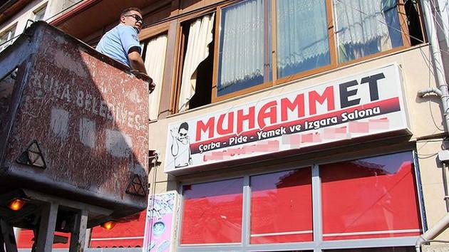 Tepki gören Muhammet tabelası indirildi