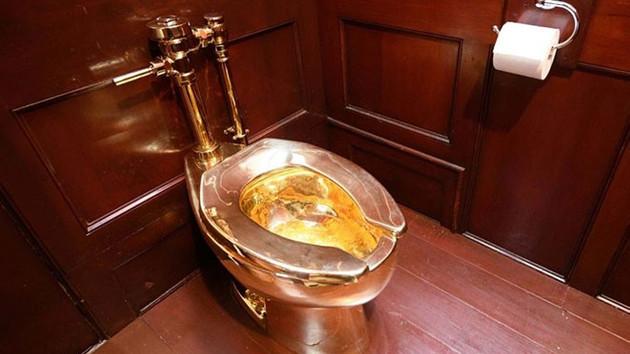 Blenheim Sarayı'ndan 5 milyon dolarlık altın klozeti çaldılar