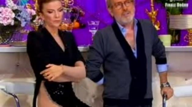 Ivana Sert'in cesareti! İç çamaşırsız kıyafetiyle ekranda!