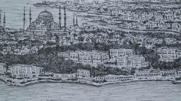 Dahi Bellek Wiltshire İstanbul'u çizdi