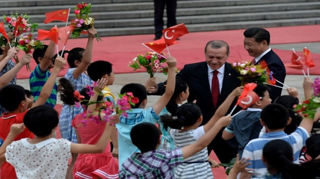 Erdogan begins China trip with wreath laying ceremony